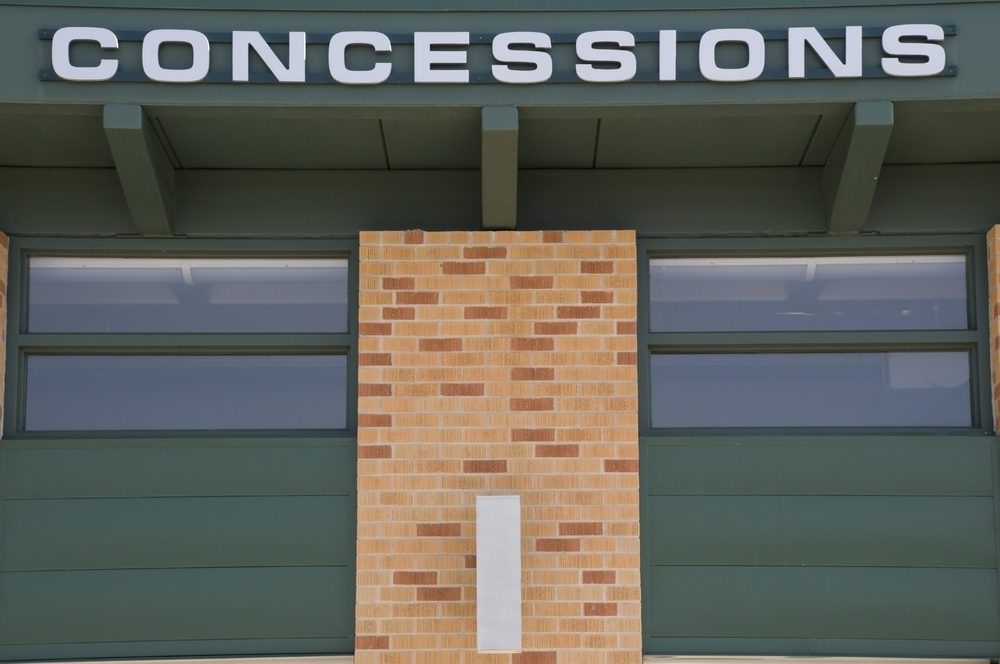 Sign in stadium for concessions