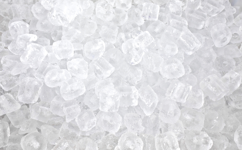 Lots of ice cubes