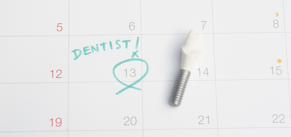 Calendar showing a dentist's appointment circled
