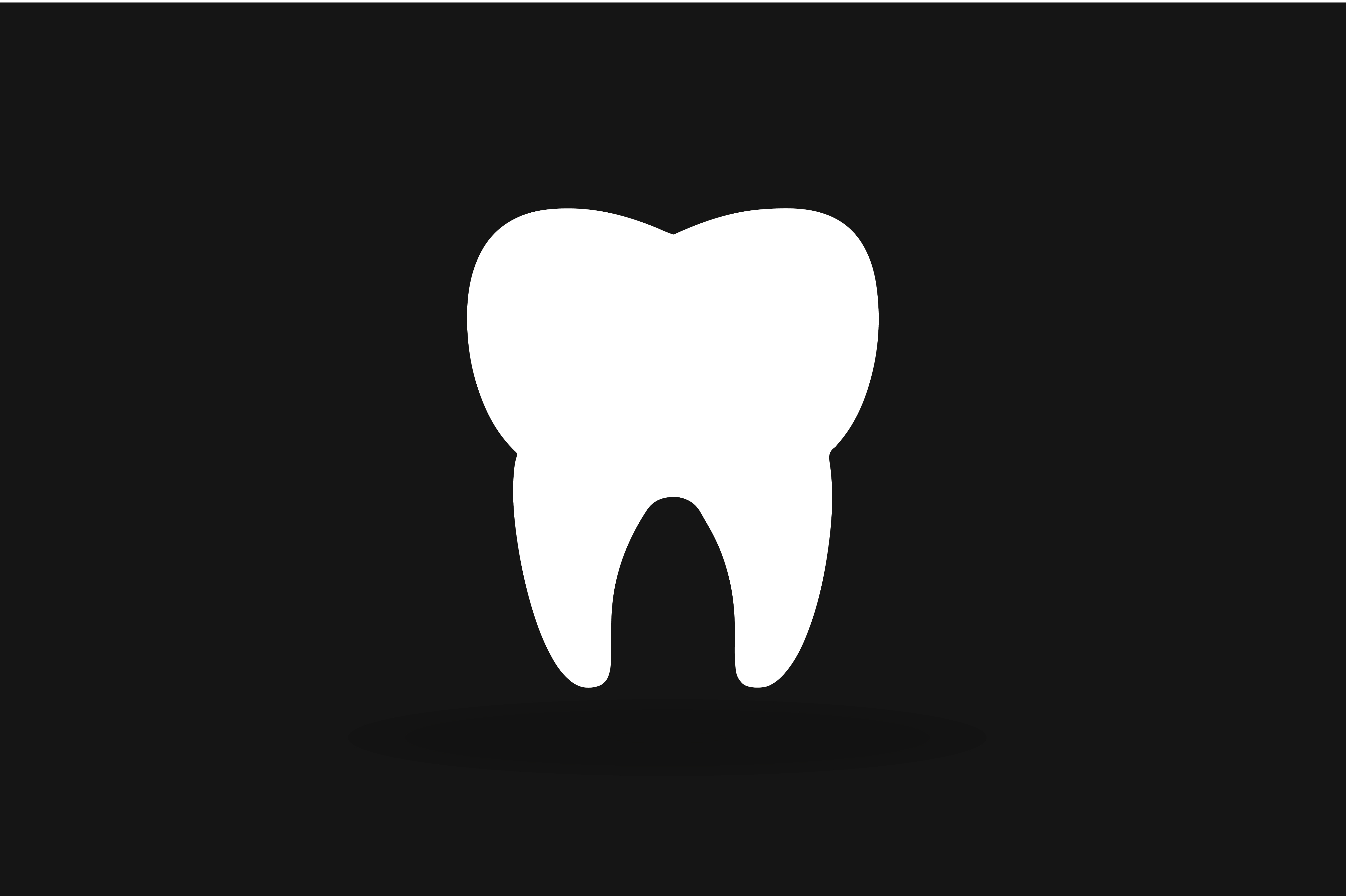 black and white tooth icon