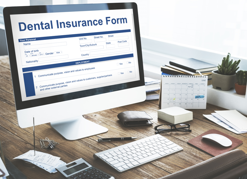 Dental Insurance Form on Computer