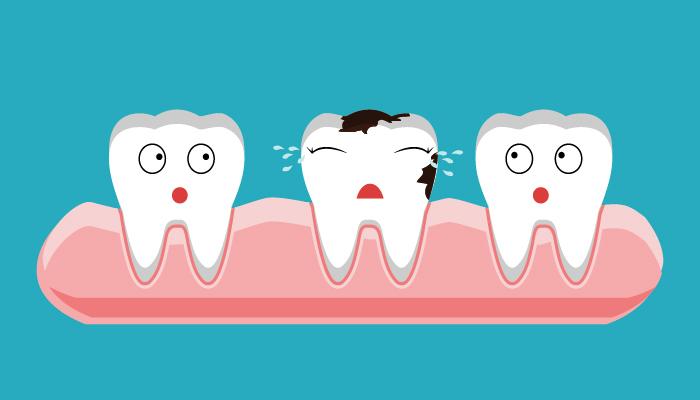 gum disease attacking healthy teeth